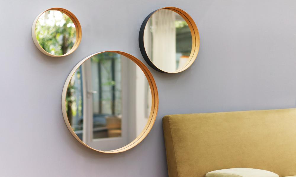 竹材が描く円とはめ込まれた鏡が表現する、永続的な美