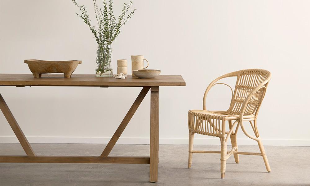 世代を超えて受け継がれている、籐家具